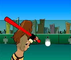 遊戲名稱: 棒球練習 遊戲種類: 運動類 好玩指數: ★★★★ 獎金比率: 336分=1U幣 遊戲人次: 0 每局收費: 20U幣 玩法說明: 用MOUSE瞄準擊球位置,及時按鍵.